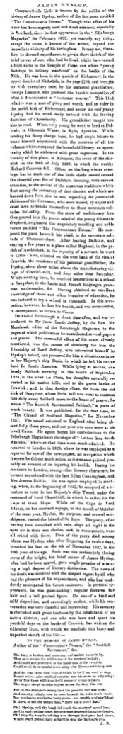 James Hyslop - Dumfries and Galloway Standard - 26 February 1845