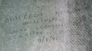 Rab Wilson's pictures o' Cormilligan family visitors, sigbned oan the wa' (1)