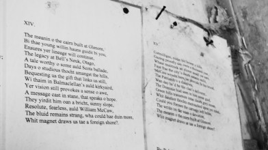 Rab Wilson's poem hanging in Cormilligan [10 May 2021] (6)