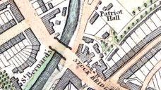 Patriot Hall 1824 map by James Knox, Edinburgh