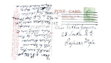 The Gardens Rouken Glen - postcard to Nettie Georgeson [2]