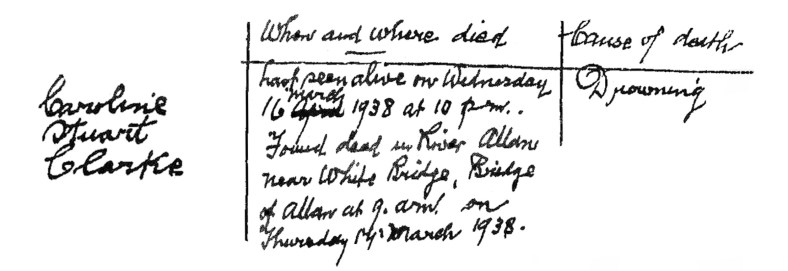 17 March 1938 Caroline Stuart Clarke, Bridge of Allan 3