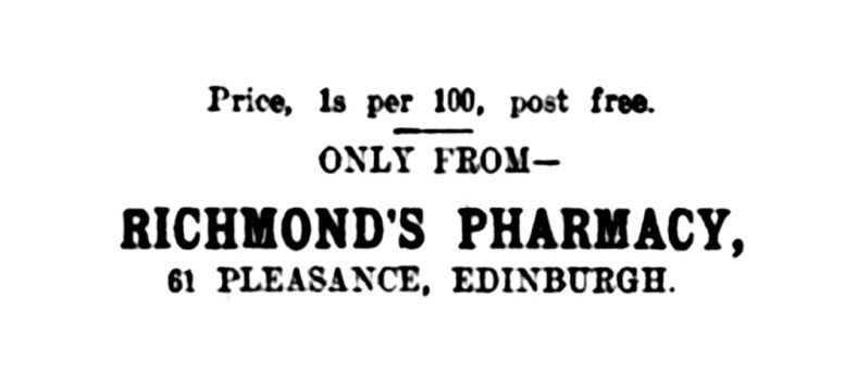 9 April 1920 Richmond's Pharmacy, 61 Pleasance, Edinburgh - sugar rations (4)