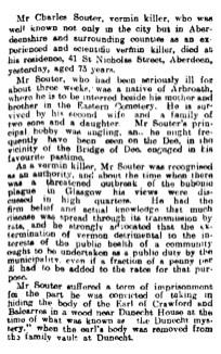 Charles Souter, Soutar, Vermin Killer, Aberdeen, Dunecht mystery - death Jan 1914
