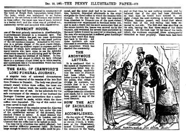 Desecration of the Earl of Crawford's tomb, Dunecht - 10 Dec 1881 (3)