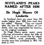 Hugh Munro - Scotland's peaks named after him