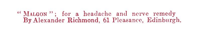 Malgon for headache - Richmond's Pharmacy, 61 Pleasance, Edinburgh