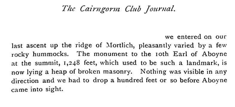 The Cairngorm Club Journal, 1924, Mortlich Hill