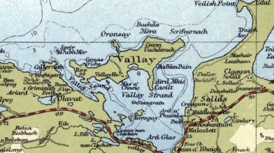 Vallay map 1950s