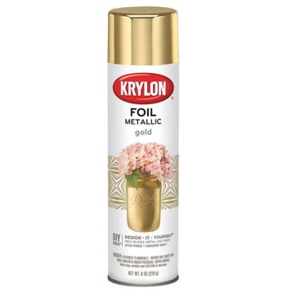 Krylon Foil Metallic Gold аэрозольная краска с эффектом фольги
