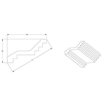 Карниз из полиуретана ORAC DECOR C400