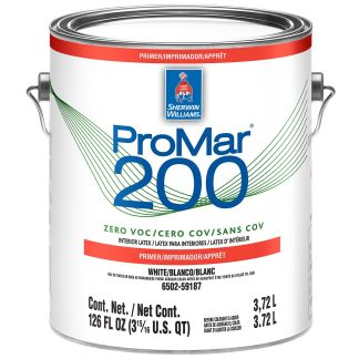 Sherwin-Williams ProMar 200 Zero VOC Interior Latex Primer White 1 Gallon