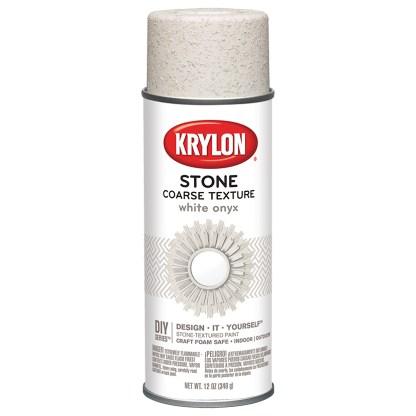 Krylon Coarse Stone Texture White Onyx 18213 аэрозольная фактурная краска
