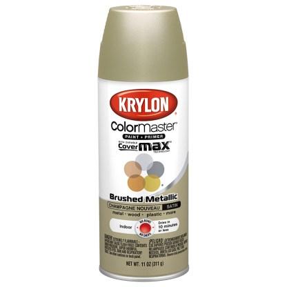 Krylon Colormaster Brushed Metallic Champagne Nouveau 51253