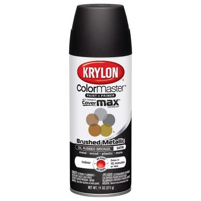 Krylon Colormaster Brushed Metallic Oil Rubbed Bronze 51254
