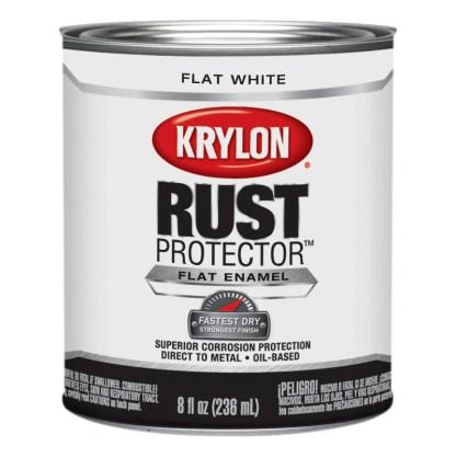 Krylon Rust Protector Flat White Half Pint 69107 антикоррозийная краска