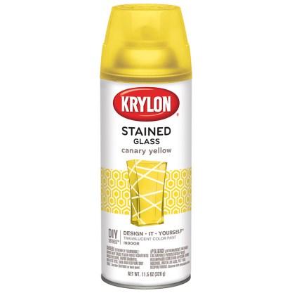 Аэрозольная полупрозрачная краска для стекла Krylon StainedGlass Canary Yellow 9035