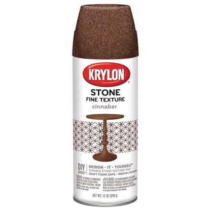 Краска в баллончиках Krylon Stone Fine Texture Cinnabar 3707