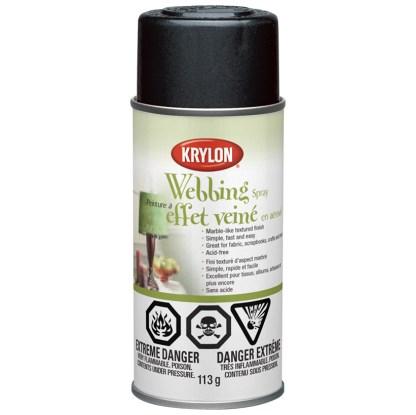 Аэрозольная краска с эффектом Паутина Krylon Webbing Spray Black Lava 40601