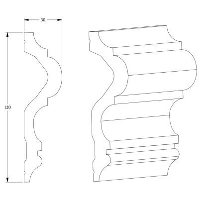 Молдинг из полиуретана Orac Decor P8050