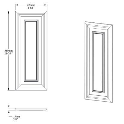 Накладная панель из дюрополимера Orac Decor D504
