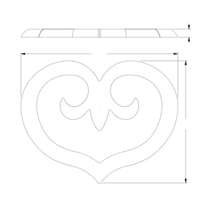 Декоративный элемент из полиуретана Orac Decor G75 SCALA