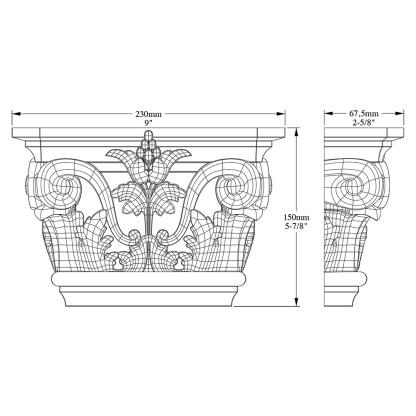 Капитель пилястры Orac Decor K201