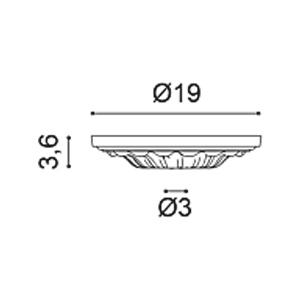 Потолочная розетка из полиуретана Orac Decor R11