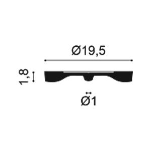 Потолочная розетка из полиуретана Orac Decor R12