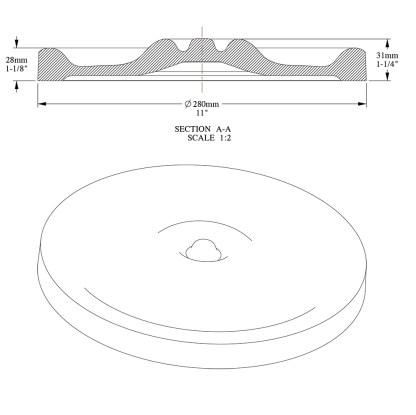 Потолочная розетка из полиуретана Orac Decor R13
