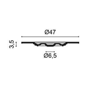 Потолочная розетка из полиуретана Orac Decor R17