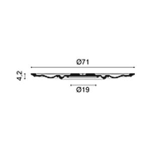 Потолочная розетка из полиуретана Orac Decor R38