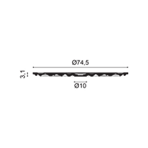 Потолочная розетка из полиуретана Orac Decor R40