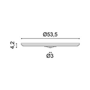 Потолочная розетка из полиуретана Orac Decor R46