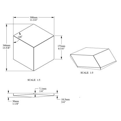 Декоративная панель из полиуретана Orac Decor W105 ROMBUS