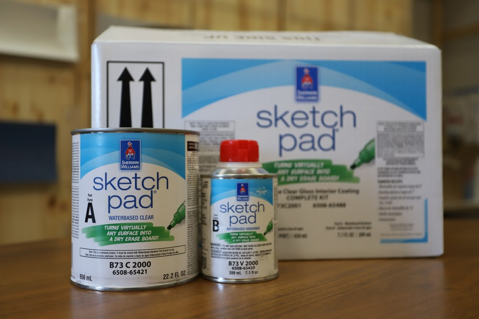 Sherwin-Williams SketchPad Dry Erase Coating