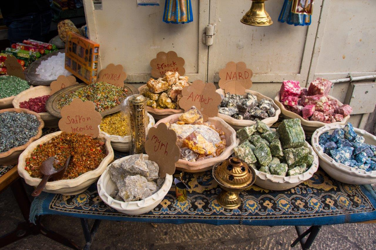 Gold, Frankincense, Myrrh…  gifts to bring back from Israel