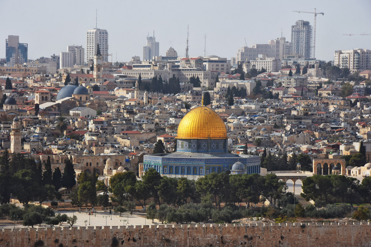 Temple Mount, Jerusalem, viewed from the Mount of Olives