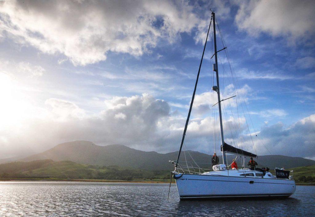 yacht on Loch Spelve