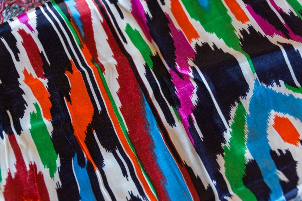 Uzbekistan, shopping, fabric, from Minzifa Bukhara