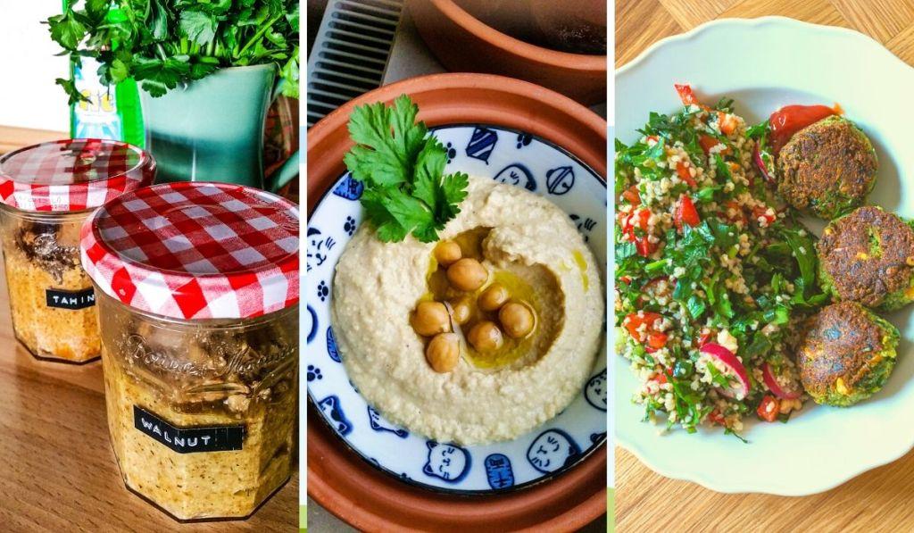 Healthy Middle Eastern vegan food