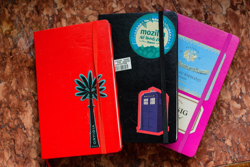 best notebooks for your travel journal - the Moleskine ranks highly