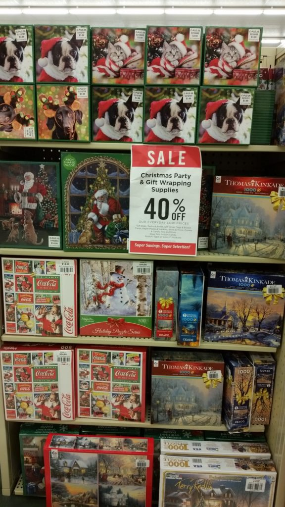 hobby lobby has soooo many christmas decorations party supplies toys and one of my favoritespuzzles right now the christmas puzzles are marked 40 off - Hobby Lobby Christmas Decorations Sale