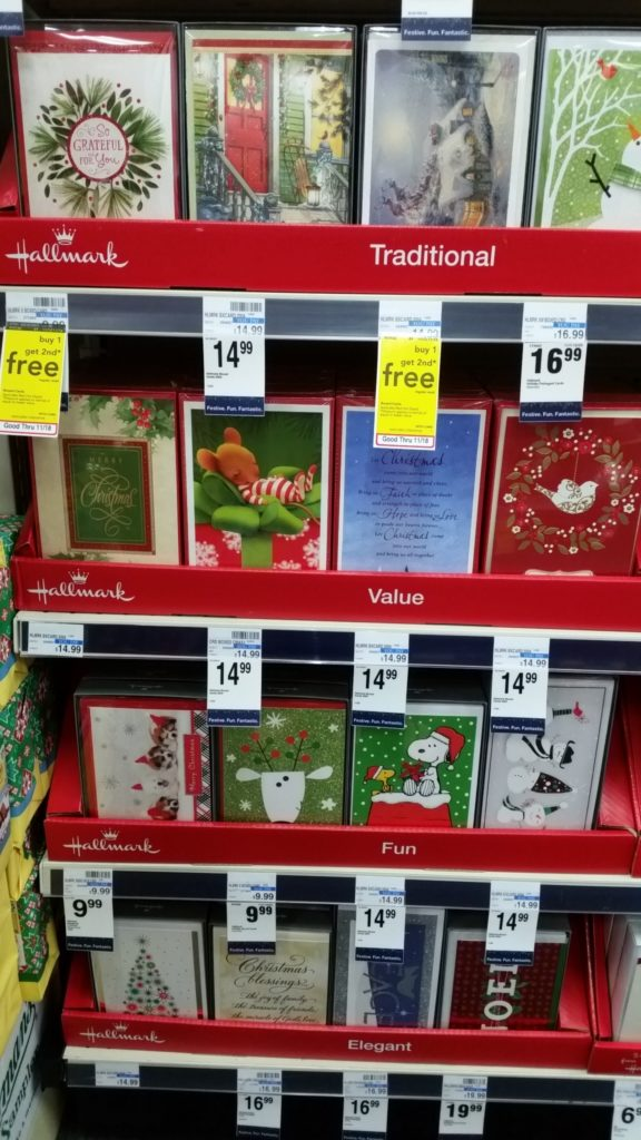 this week at cvs you can grab boxed sets of christmas cards for buy 1 get 1 free
