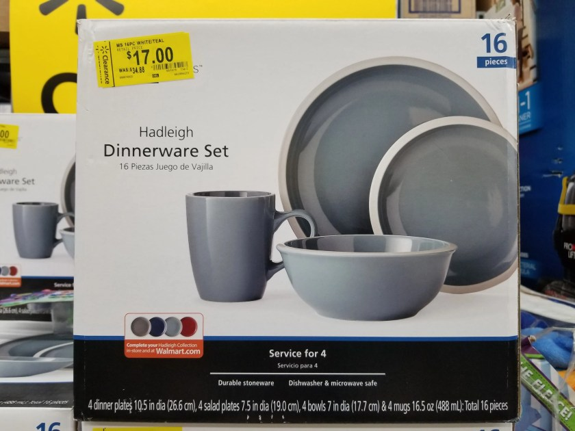 16 pc Mainstays Hadleigh Dinnerware Set beginning at $17.00 at ...