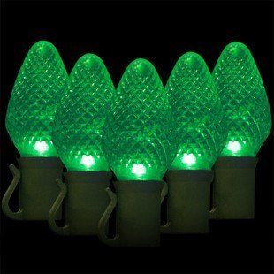 Led Christmas Light.25 C7 Green Led Christmas Lights 8 Spacing Commercial Christmas Decorations And Displays By Holiday Designs Inc