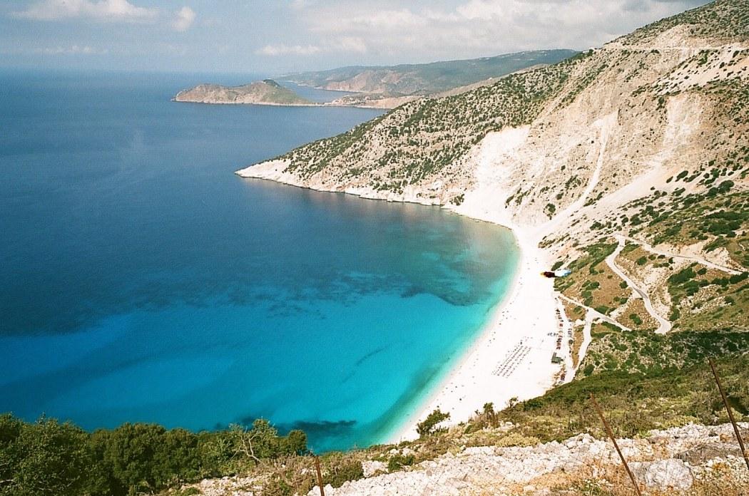 Kefalonia, Cephalonia, Greece, Myrtos beach, Melassani cave, Assos