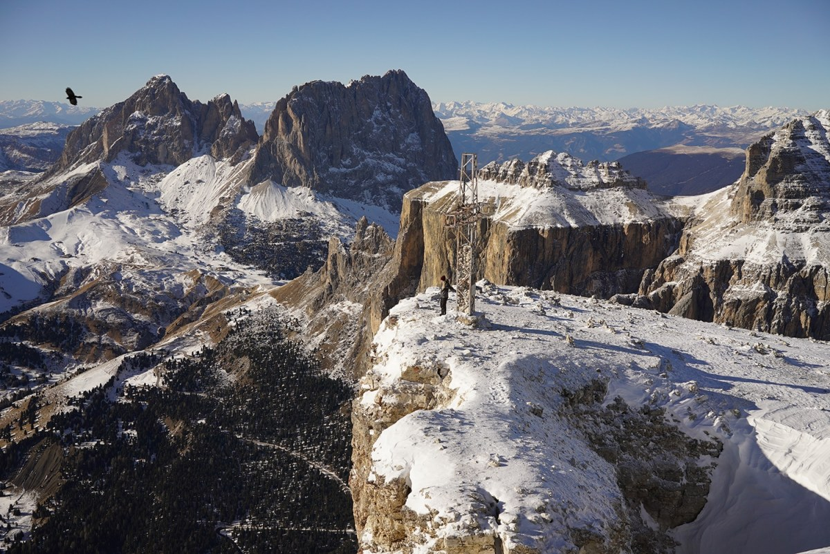 Winter Hiking in the Dolomites.