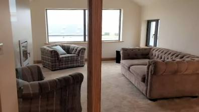 Second sitting room, situated on the first floor to enjoy lovely views over the golf club and the sea