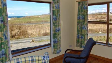 View over Dunfanaghy Golf Club towards Horn Head and Atlantic Ocean